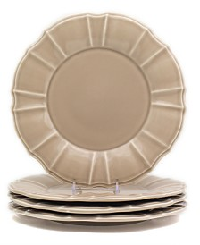 EuroCeramica Chloe 4 Piece Taupe Dinner Plate Set
