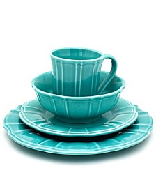 Chloe 16 Piece Turquoise Dinnerware Set