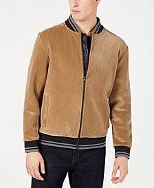 Kenneth Cole New York Men's Velour Bomber Jacket