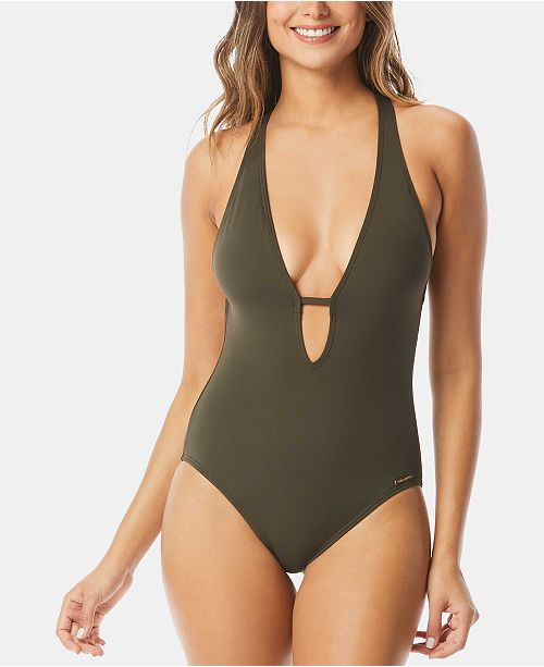 cb77e5239f Vince Camuto Riviera Plunge Cheeky One-Piece Swimsuit & Reviews ...