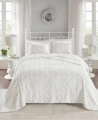 Sabrina 3-Pc. King/California King Tufted Cotton Chenille Bedspread Set