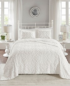Sabrina 3-Pc. Full/Queen Tufted Cotton Chenille Bedspread Set