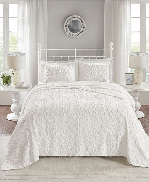 Madison Park Sabrina 3 Pc Full Queen Tufted Cotton