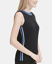 Calvin Klein Varsity-Striped Top