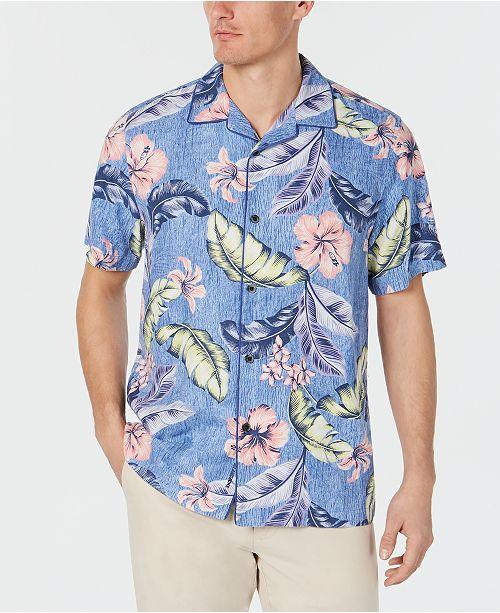 87ff29f2 ... Tommy Bahama Men's Big & Tall Maeva Beach IslandZone Camp Hawaiian Shirt  ...