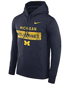 Nike Men's Michigan Wolverines Staff Pullover Hooded Sweatshirt