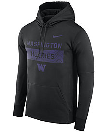 Nike Men's Washington Huskies Staff Pullover Hooded Sweatshirt