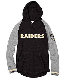 Mitchell & Ness Men's Oakland Raiders Slugfest Lightweight Hooded Long Sleeve T-Shirt