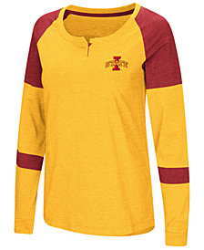 Colosseum Women's Iowa State Cyclones Colorblocked Raglan Long Sleeve T-Shirt