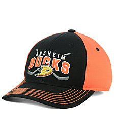 Outerstuff Boys' Anaheim Ducks Faceoff Flex Stretch Fitted Cap