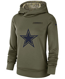 Nike Women's Dallas Cowboys Salute To Service Therma Hoodie