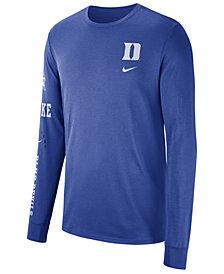Nike Men's Duke Blue Devils Long Sleeve Basketball T-Shirt