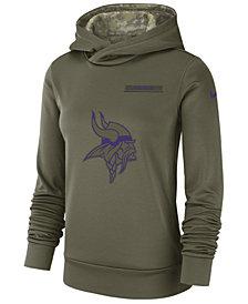 Nike Women's Minnesota Vikings Salute To Service Therma Hoodie