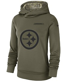 Nike Women's Pittsburgh Steelers Salute To Service Therma Hoodie