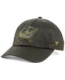 Authentic NHL Headwear Columbus Blue Jackets Fundamental Waxed Adjustable Cap