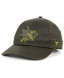 Authentic NHL Headwear San Jose Sharks Fundamental Waxed Adjustable Cap