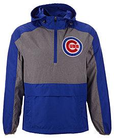 G-III Sports Men's Chicago Cubs Leadoff Hooded Half-Zip Pullover Hoodie