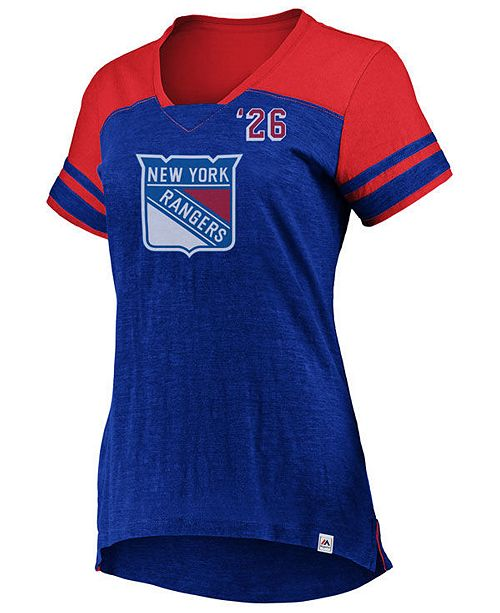 Majestic Women's New York Rangers Hyper V Neck T-Shirt