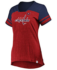 Majestic Women's Washington Capitals Hyper V Neck T-Shirt