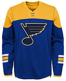 Outerstuff St. Louis Blues Defenseman Fleece Sweatshirt, Big Boys (8-20)