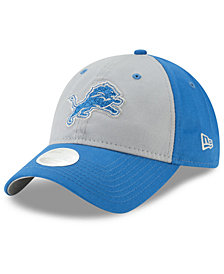 New Era Women's Detroit Lions Gray Glitter 9TWENTY Cap