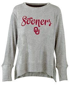 Pressbox Women's Oklahoma Sooners Cuddle Knit Sweatshirt