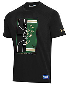 Under Armour Men's Milwaukee Bucks Banners Begin in the Gym T-Shirt
