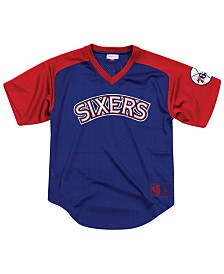 Mitchell & Ness Men's Philadelphia 76ers Final Seconds Mesh V-Neck Jersey