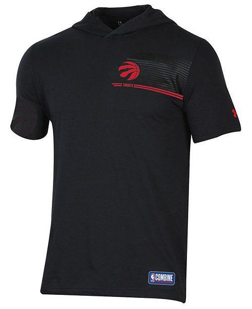 05d79293a Under Armour Men s Toronto Raptors Baseline Short Sleeve Hooded T-Shirt