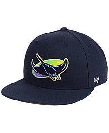 '47 Brand Boys' Tampa Bay Rays Basic Snapback Cap