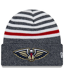 New Era New Orleans Pelicans Striped Cuff Knit Hat