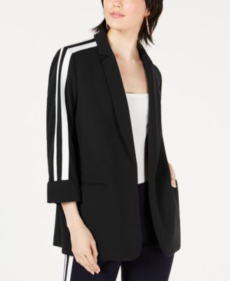 Varsity-Stripe Open-Front Jacket, Created for Macy's