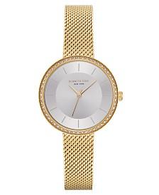 Kenneth Cole New York Ladies Gold Tone Mesh Bracelet Watch 32mm