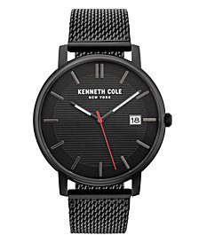 Kenneth Cole New York Men's Black Mesh Bracelet Watch 42mm
