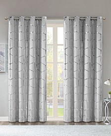 "Raina Metallic Print 50"" x 84"" Total Blackout Curtain Panel"