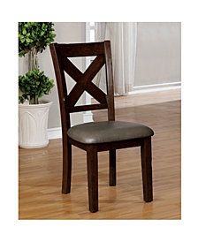 Meagle Transitional X-Crossed Dining Chair