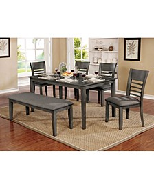 Tristen Transitional Style Wooden Dining Table