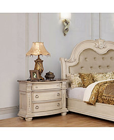 Costavile Traditional Genuine Marble Top Nightstand