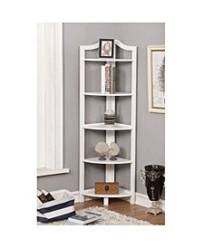 Emery 5-Tiered Corner Ladder Shelf