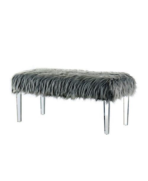 Fine Raven Ii Faux Fur Acrylic Bench Uwap Interior Chair Design Uwaporg