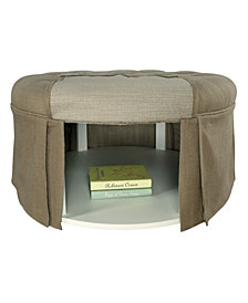 Hampton Transitional Round Storage Ottoman
