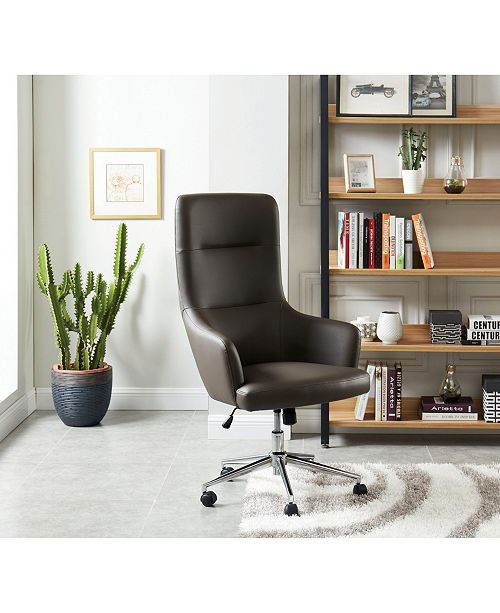 Furniture of America Clyde Curved Height Adjustable Rolling Office Chair