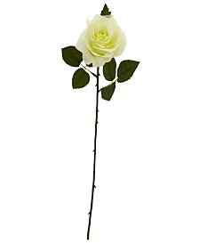 """Nearly Natural 18"""" Rose Artificial Flower, Set of 24"""
