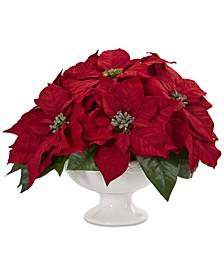 Poinsettia Artificial Arrangement in Urn