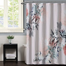 Christian Siriano Dreamy Floral  Shower Curtain