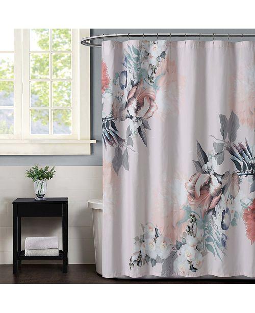 Christian Siriano New York Christian Siriano Dreamy Floral  Shower Curtain