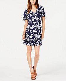MICHAEL Michael Kors Printed Belted-Waist Dress