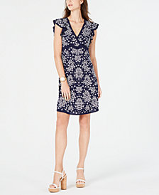 MICHAEL Michael Kors Embossed Flower Dress