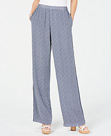 MICHAEL Michael Kors Printed Wide-Leg Pants, In Regular & Petitie Sizes