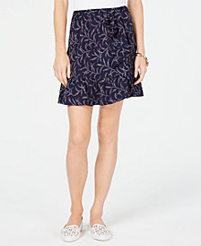 MICHAEL Michael Kors Flounce-Trim Printed Skirt, In Regular & Petite Sizes